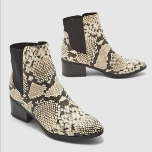 Call It Spring Faux Snake Print Ankle Booties 🖤